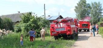 В Гуляевке сгорел жилой дом вместе с хозяйственным двором, сеновалом и баней
