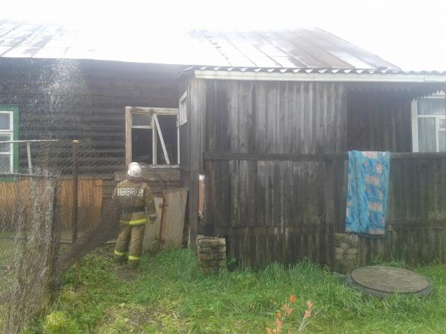 Пожар в деревне Заборье ликвидирован