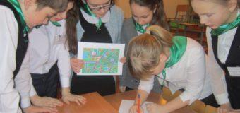 Школьники 5-6 классов Островской школы успешно выполнили все задания игры по ПДД