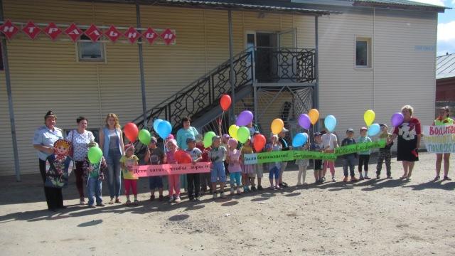 В поселке Островское автоинспекторы организовали акцию «Защитим детей на дороге!»