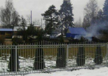 Подробности пожара в Покровском храме села Адищево Островского района